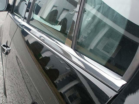 "QAA PART  WS25665 fits JETTA 2005-2010 VOLKSWAGEN (4 Pc: Stainless Steel Window Sill Trim - 1"" wide, 4-door) WS25665"