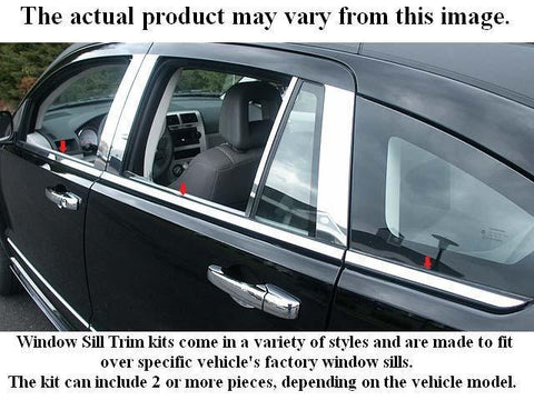 QAA PART  WS40135 fits IMPALA 2000-2005 CHEVROLET (4 Pc: Stainless Steel Window Sill Trim, 4-door) WS40135