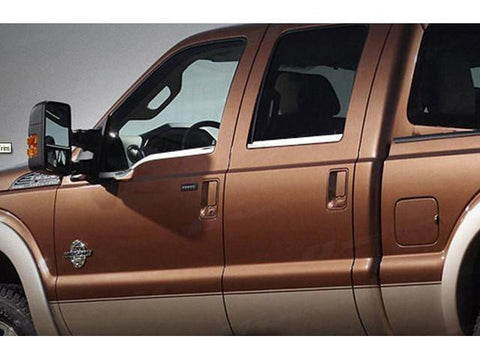 QAA PART  WS48323 fits F-250 & F-350 SUPER DUTY 1999-2016 FORD (4 Pc: Stainless Steel Window Sill Trim - 4-door, Crew Cab) WS48323