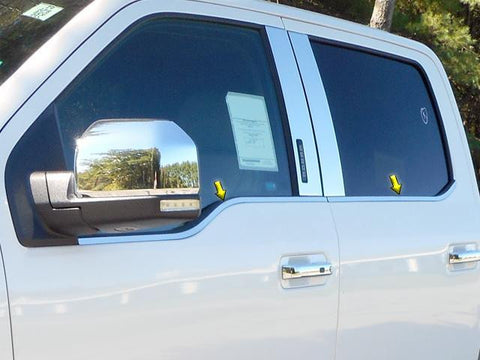QAA PART  WS55316 fits F-150 2015-2018 FORD (4 Pc: Stainless Steel Window Sill Trim, 4-door, Super Crew Cab) WS55316