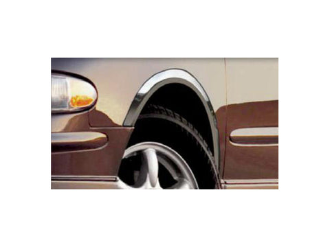 QAA PART WZ38575 Fits REGAL 1998-2004 BUICK (4 Pc: Stainless Steel Fender Trim - Clip on or screw in, hardware included, 4-door) WZ38575