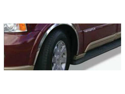 QAA PART WC43655 Fits NAVIGATOR 2003-2006 LINCOLN (4 Pc: Stainless Steel Fender Trim - Clip on or screw in, hardware included , 4-door, SUV) WC43655