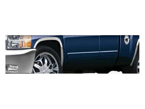 "QAA PART  WZ47181 fits SILVERADO 2007-2013 CHEVROLET (4 Pc: Stainless Steel Fender Trim - Clip on or screw in, hardware included - 1.75"" wide , 1500) WZ47181"