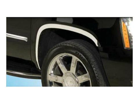 QAA PART  WZ47256 fits ESCALADE 2007-2014 CADILLAC (4 Pc: Stainless Steel Fender Trim - Clip on or screw in, hardware included , 4-door, ESV) WZ47256