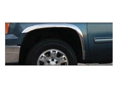 "QAA PART  WZ47285 fits SIERRA 2007-2013 GMC (4 Pc: Stainless Steel Fender Trim - Clip on or screw in, hardware included - 2.5""- 2.75"" width, WIDE FITMENT) WZ47285"