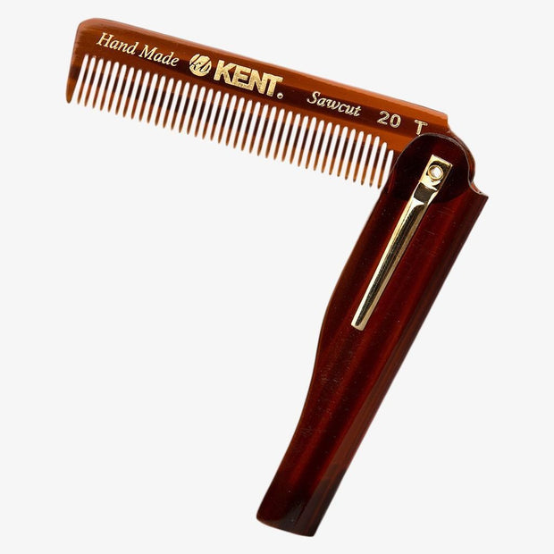 Kent Folding Pocket Beard/Hair Comb (K20T)