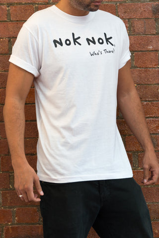 Signature Who's There White Tee - Nok Nok