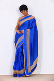 Royal Blue Saree with Golden Net Border
