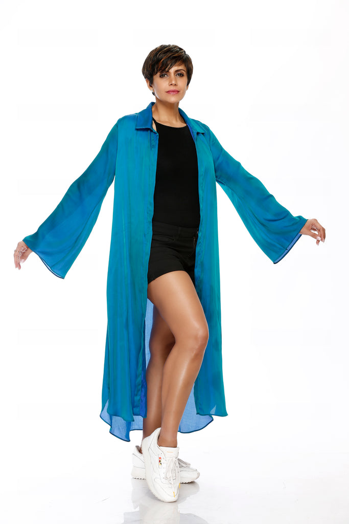 Blue Jacket with Bell Sleeves