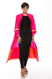 Colorblock Ballon sleeves Duster Coat