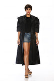 Black Winged Sleeves Jacket