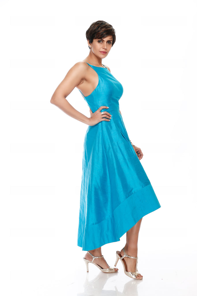 Turquoise Party wear Dress
