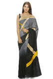 Grey to black shaded saree