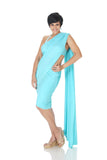 Mini Lycra Saree in 7 color Variants