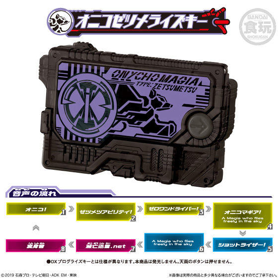 CSTOYS INTERNATIONAL:Kamen Rider 01: Candy Toy SG Progrise Key 03 - 04 Onycho Zetsumerise Key