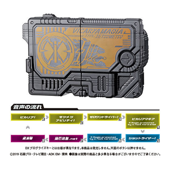 CSTOYS INTERNATIONAL:Kamen Rider 01: Capsule Toy GP Progrise Key 05 - 03 Vicarya Zetsumerize Key