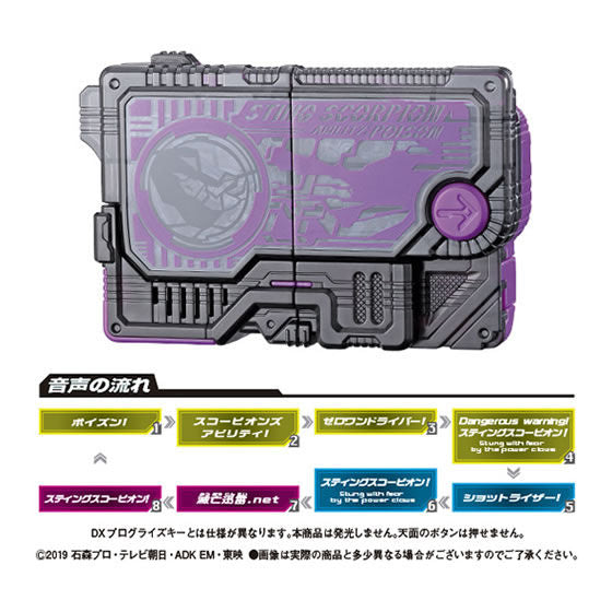 CSTOYS INTERNATIONAL:Kamen Rider 01: Capsule Toy GP Progrise Key 06 - 01. Sting Scorpion