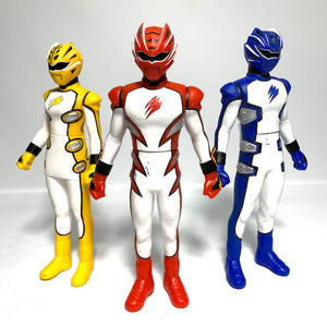 CSTOYS INTERNATIONAL:[LOOSE] Gekiranger: SHS 04-06 Super Geki Red + Blue + Yellow Vinyl Figure Set of Three