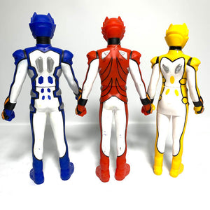 [LOOSE] Gekiranger: SHS 04-06 Super Geki Red + Blue + Yellow Vinyl Figure Set of Three
