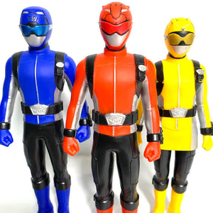 [LOOSE] Tokumei Sentai Go-Busters: SHS 01 Red Buster, 02 Blue Buster, & 03 Yellow Buster