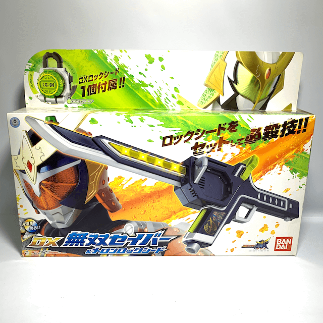 [BOXED] Kamen Rider Gaim DX Musou Saber & Melon Lock Seed (Demo-Used Version)