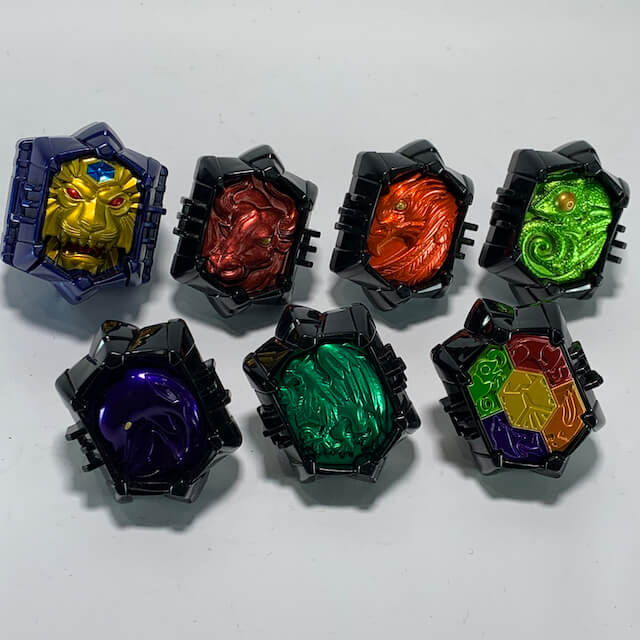 [LOOSE] Kamen Rider Wizard: Beast Wizard Ring Set (DX & Candy Toy Ver.)