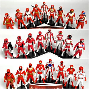 [LOOSE] Super Sentai Hero Gallery: Capsule Toy Red Chronicle Set RARE  (Vol. 2 + 3 + 4 Complete Set)