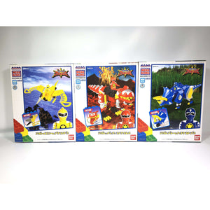 CSTOYS INTERNATIONAL:[BOXED] Bakuryuu Sentai Abaranger: MegaBloks 3-Box Set (SEALED & UNOPENED)
