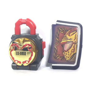 CSTOYS INTERNATIONAL:[LOOSE] Kamen Rider Gaim: DX DX Gold Apple Lock Seed and Mars Faceplate Set