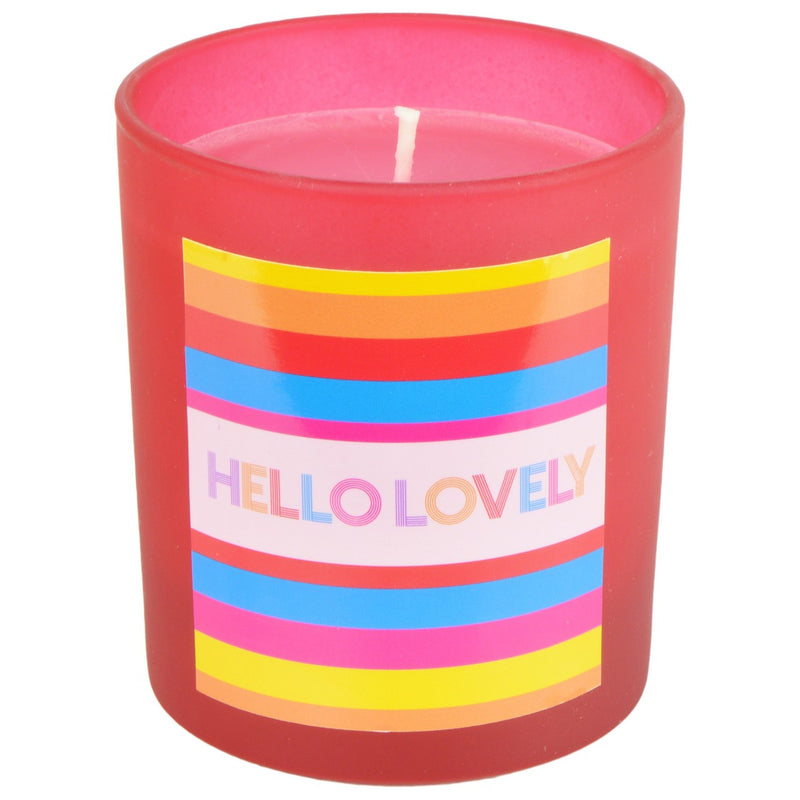 Gooseberry & Elderflower Rainbow Hello Lovely Frosted Red Candle