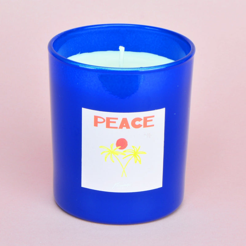 Silver Needle & Rose Tea Navy Peace Palm Candle