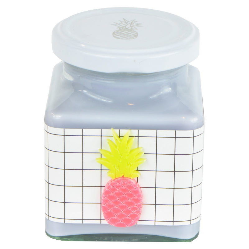 Pineapple & Coconut Grid Neon Pineapple Jar Candle