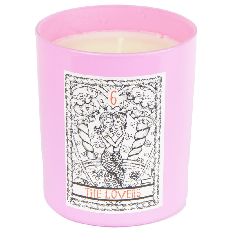 Wild Hibiscus Fizz The Lovers Tarot Card Candle