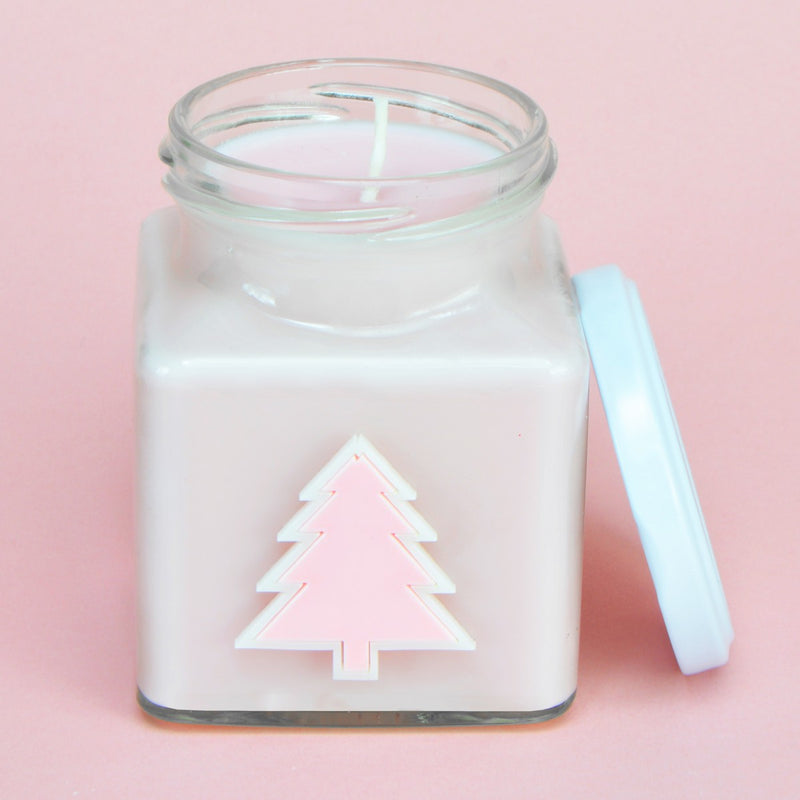 Gingerbread Ice Pastel Christmas Tree Candle