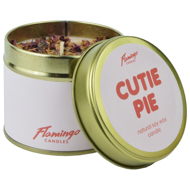 Cherry Pie Cutie Pie Petal Embellished Tin Candle