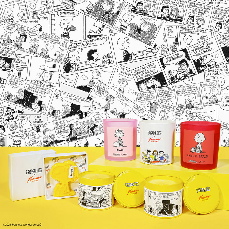 Peanuts x Flamingo Candles Strawberry Candy 'Love Letter' Comic Strip Tin Candle