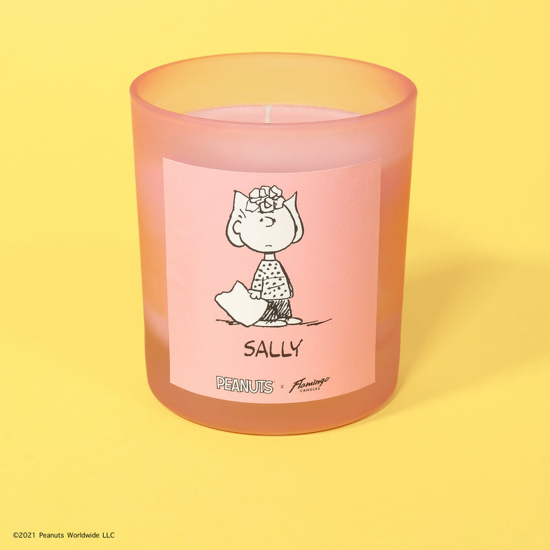 Peanuts x Flamingo Candles Strawberry Candy Sally Frosted Pink Jar Candle