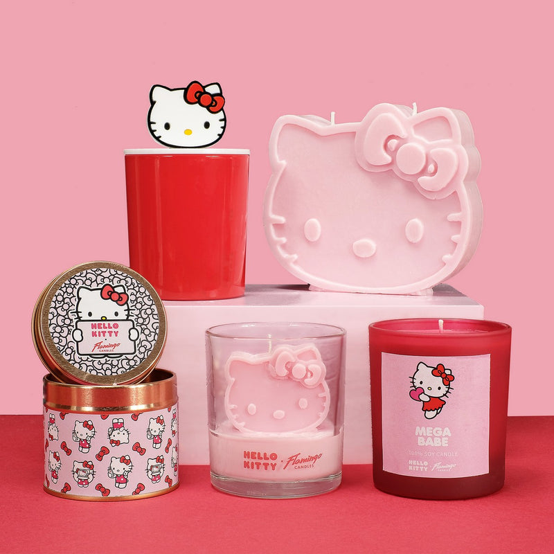 Hello Kitty x Flamingo Candles Cherry Cola Treat Yo'Self Yellow Frosted Jar Candle