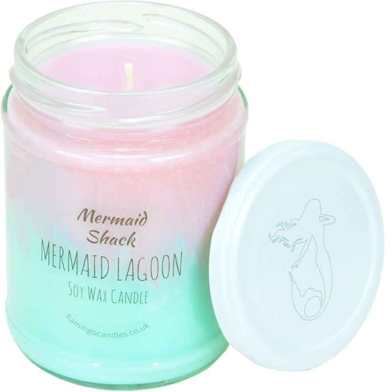 Mermaid Lagoon Pink/Turquoise Ombre Candle