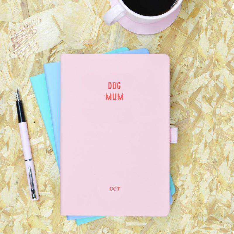 Dog Mum Pink & Red Personalised Notebook - SOLD OUT!