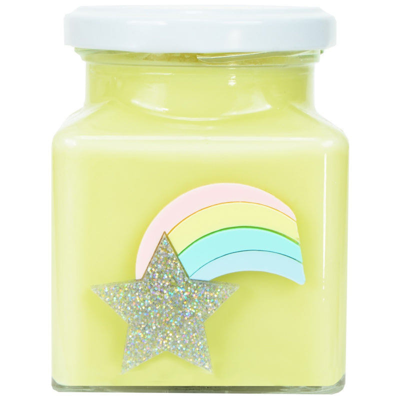 Yellow Rainbow Shooting Star Candle