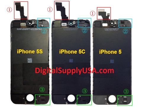 DIFFERENCE BETWEEN IPHONE 5 IPHONE 5C AND IPHONE 5S LCD SCREEN BACK HOUSING COVER