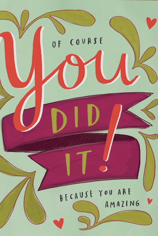 You Did It - BEST SELLER