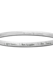 I am love, I am light, I am peace metal bangle handmade in Laos