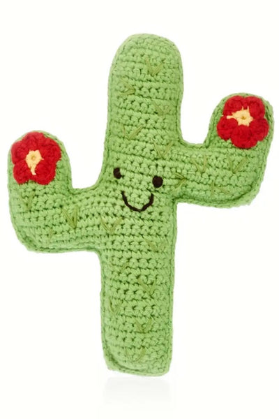 Friendly Cactus Baby Rattle
