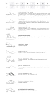 ABLE: Local + Global shoe style and size guide.
