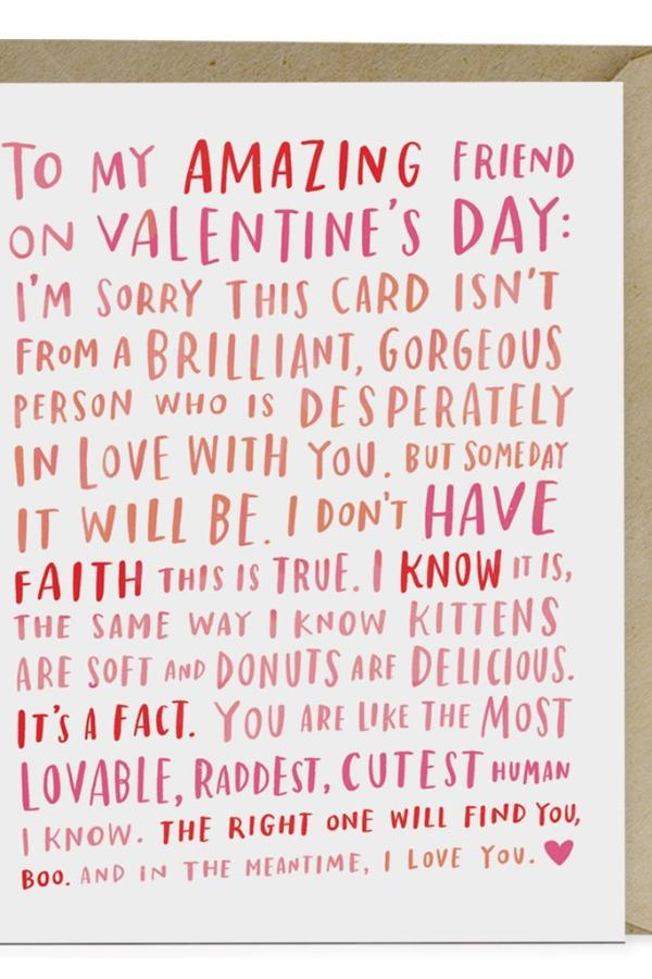 Amazing Single - Valentine Card