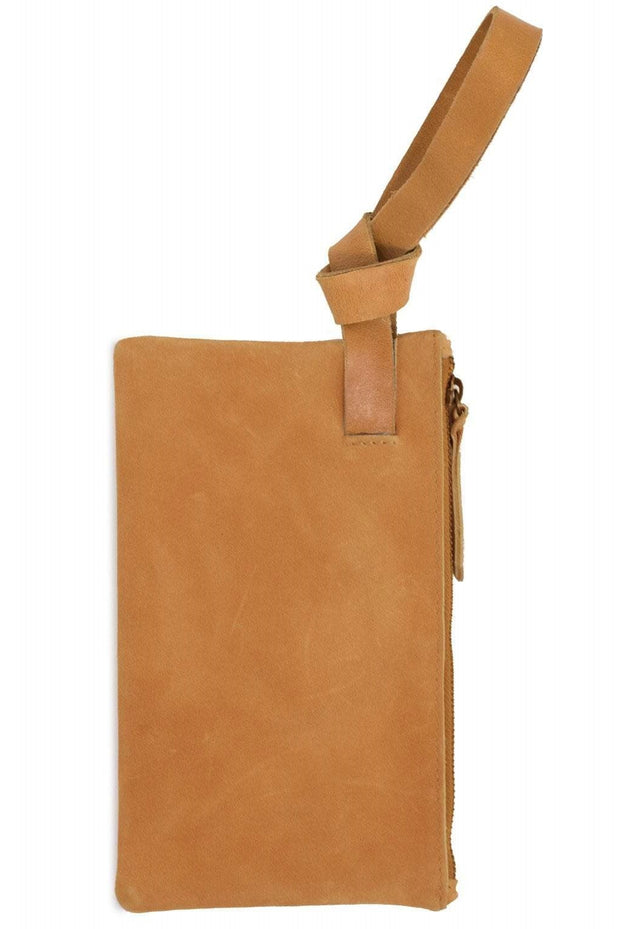 The Rachel Knotted Wristlet, Cognac Brown