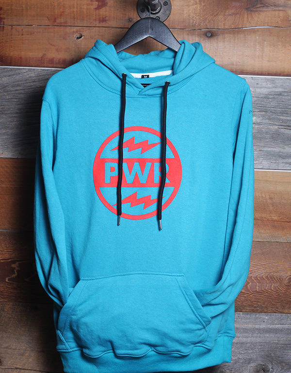 SOVEREIGN PWR HOODY, AQUA