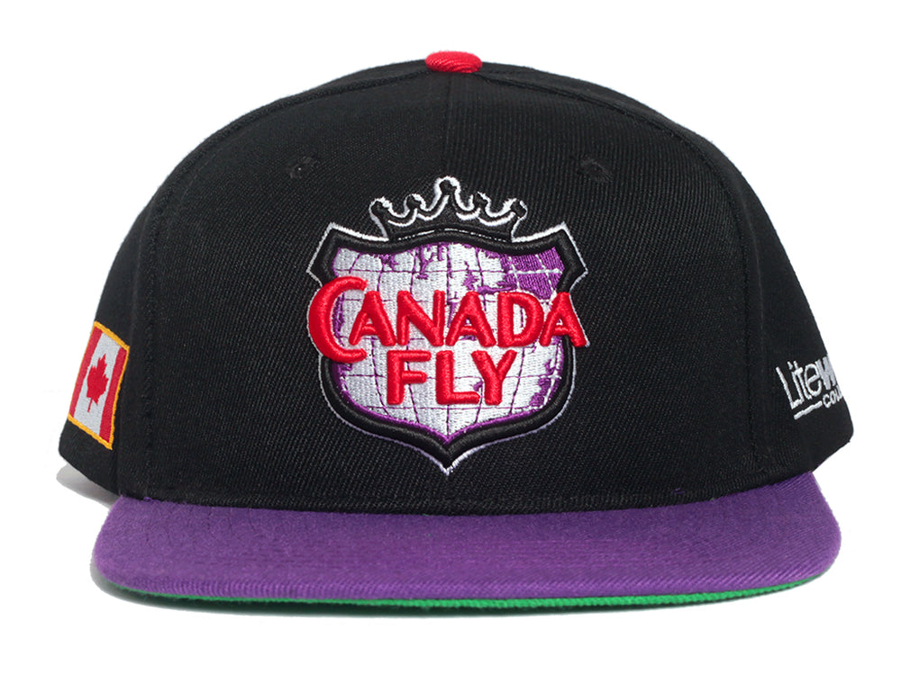 Canada Fly - Snapback (Purple/Black)